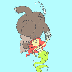 A Sasquatch Taped to a Mermaid by pseudonymjones