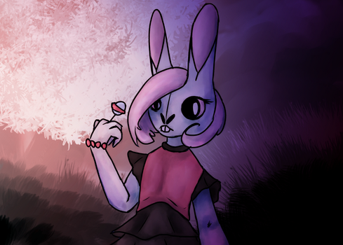 Hollow Bunny Lady by flophelia