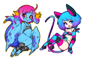 Cteno and Vomi by Slugbox