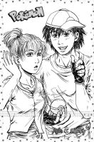 Pokemon- Ash and Misty (my style XD) Grown Up by genaminna