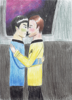 Happy Kirk/Spock Day! by P-Code-Art