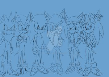 The Hedgehogs sketch by sira-the-hedgehog