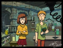Daria and Trent as Velma and Shaggy by Christo-LHiver