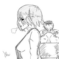 Touka's suffering by jamjamstyle