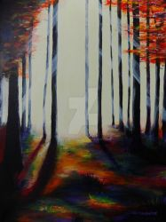 Light Through Forest Landscape by CindysFineArtStudio