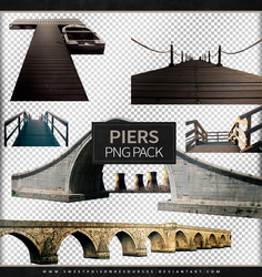 Piers and Bridges | Png Pack by sweetpoisonresources