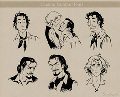 characters (Captain Golden Heart) by sharandula