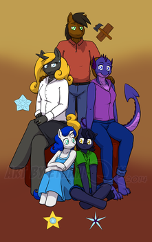 [Comm] Family portrait by EthanQix