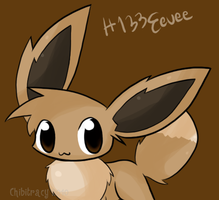 No. 133 Eevee by chibitracy