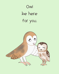 Comfort From an Owl by HyperSpaceOddity