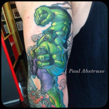 Custom hulk tattoo by paulabstruse