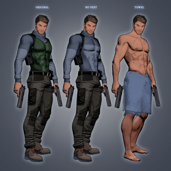 Fear Effect - Royce Glas Alt Outfits by LitoPerezito