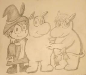 Snuf, Moom and Snork by Recobbled-Cobbler