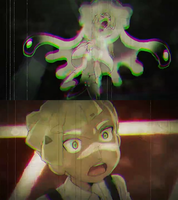 Lillie been Attacked by Nihilego