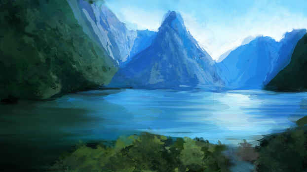 Lake Speedpaint by sannahikari