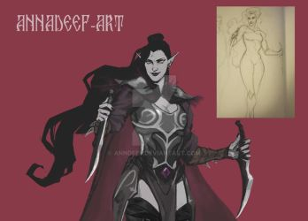 Widowmaker Dark Elf Re-Design by AnnDeeF