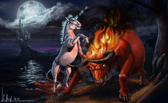 The last unicorn and the Red Bull by SimonGangl