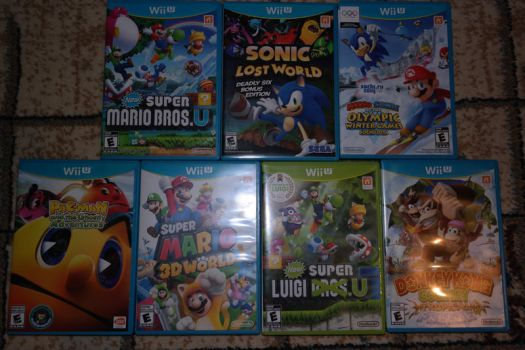 my Wii U Games by Just-Call-Me-Sonic