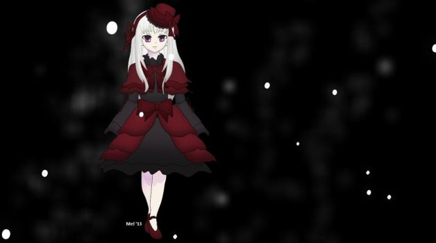 She Walks in Black, White and Red by Mel-Meiko-Mei-Ling