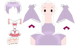 Kagami Papercraft Template by AnimeGang