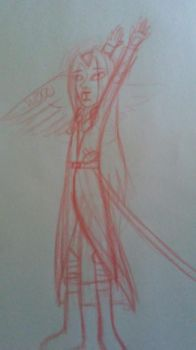 Sephiroth doodle by nerdling18