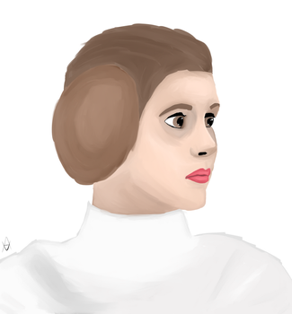 Quick Leia Painting by Avus-Art