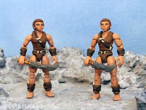 3D printed cavewoman action figure 3 3/4 inch A by hauke3000