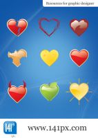 Package of 9 love icons by 141px-com