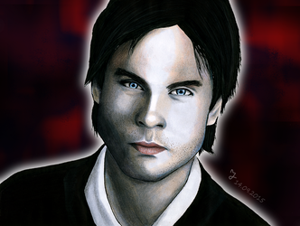 Damon Salvatore by Rakkasei
