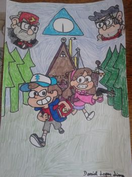 a night in Gravity falls. by Cartoonenxtdoor