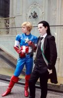 Loki and Steve - For Asgard and Freedom by blue-cage