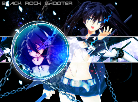 Black Rock Shooter Collage by yumi96