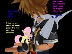 Sora and Lugia Meet Fluttershy by Lugora