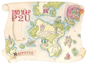 Whimsical Country Map for Game Masters - P2U