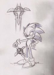 Sonic and his sword by ThePandamis