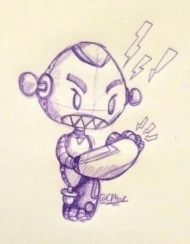 Doodle Archives- Evil Turbot by CrazyPlantMae