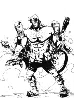 Hellboy by SpencerPlatt