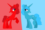 Mlp oc Ruby Stone and Sapphire Stone by november123456789066