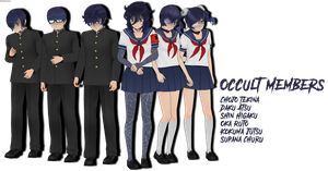 MMD Yandere Simulator Occult Members Download by XMikuXx