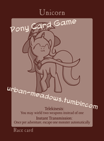 Pony Card Game Unicorn Race by Urban-Meadows