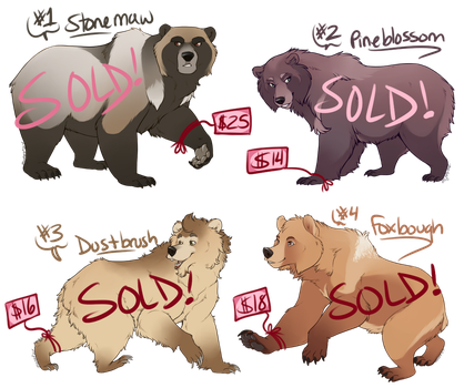 Bear Adoptables [SOLD] by Machati