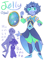 FT - (Bornite/Moonstone) Jelly Opal by TheZodiacLord