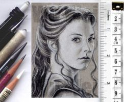 Margaery Tyrell sketchcard by whu-wei