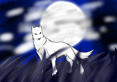 Moonlight Wolf by Radioactive-Wolf
