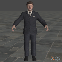 CoD BO John Fitzgerald Kennedy for XPS/XNALara by SaltPowered