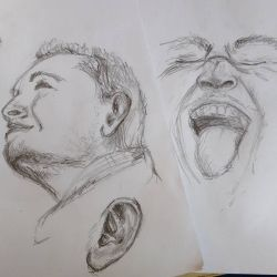 Head and Face sketch by Meellowstar