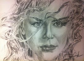 Nicole Kidman Charcoal by DustinJWCook