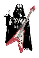 Darth Vader - Come to the rock side! by LauScotch