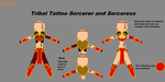 Tribal Tattoo Sorcerer and Sorceress Outfit by Gligo