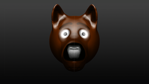 Inu (Dog) Head Sculptris by ScarletCB1999